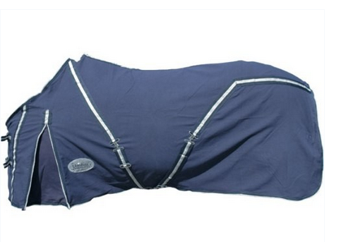 Coperta in cotone e lana blu UMBCO00033