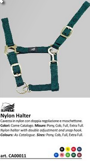 Cavezza nylon  doppia regolazione UMBCA00011