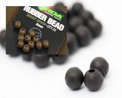 Palline gomma Korda Rubber Beads-  25 pz - KORK5RBG