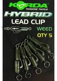 Hybrid Lead Clips Weed Green KORDA KORKHCW