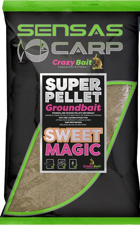 Super Pellet GROUNDBAIT Sweet Magic Sensas SEN43837
