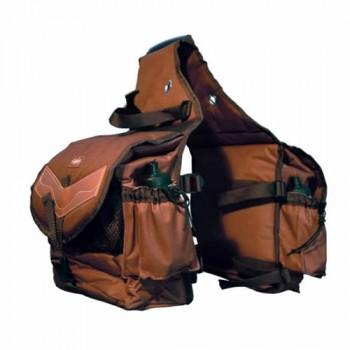 Bisaccia posteriore POOL'S nylon e cuoio UMBAC00111