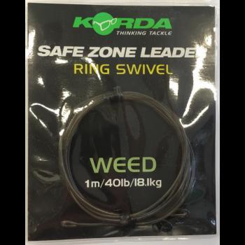Korda Safe Zone Leader RING SWIVEL Weed 1 mt KORKSZ30