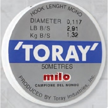 MILO Monofilo Toray Hook 50 mt MILTORAY